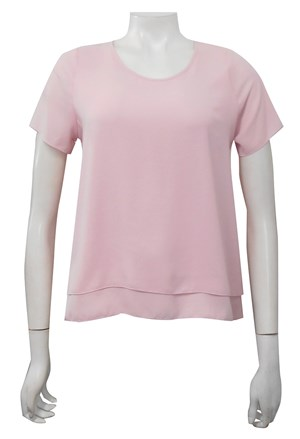 PALE PINK - Lisa double layer back pleat top
