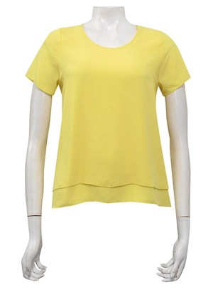 YELLOW - Lisa double layer back pleat top