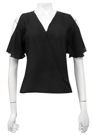BLACK - Robyn cross front blouse