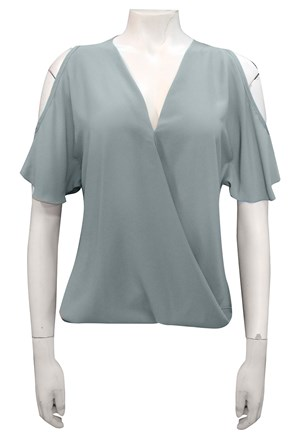 DUCK EGG - Robyn cross front blouse