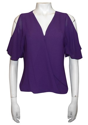 GRAPE - Robyn cross front blouse