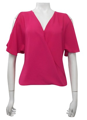 CLICK TO SEE COLOURS - Robyn cross front blouse
