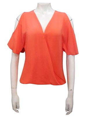 ORANGE - Robyn cross front blouse