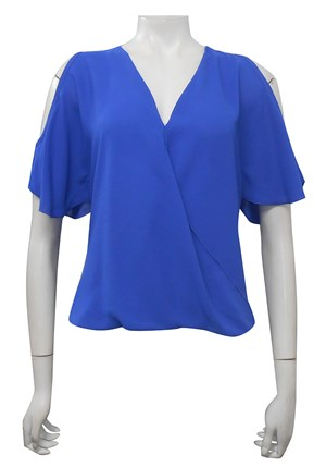 ROYAL - Robyn cross front blouse