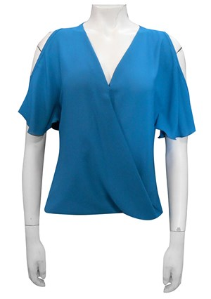 TEAL - Robyn cross front blouse