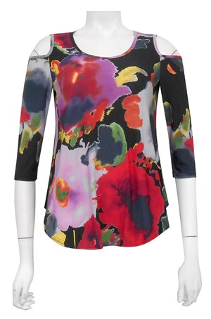 PRINT 116 - Maria swing top with curved hem