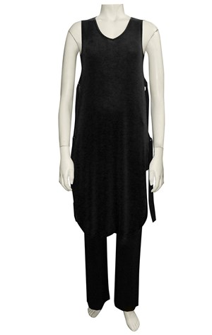 BLACK - Anna V neck tunic vest