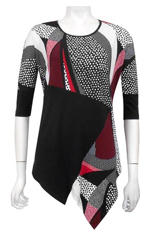 PRINT 444 - Eva tunic with contrast