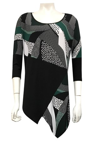 PRINT 473 - Eva tunic with contrast