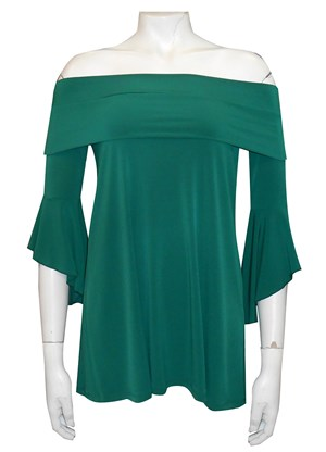 POSEY GREEN - Shirley swing top with shoulder band