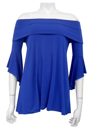 LIMITED STOCK - ROYAL - Shirley swing top with shoulder band