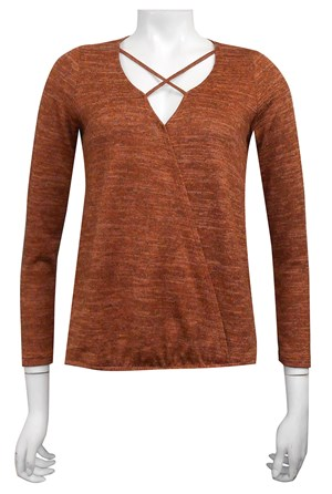 RUST - Heidi cross front hi low top