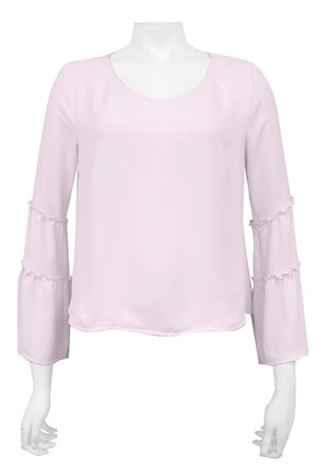 PINK - Dannie short top with sleeve detail