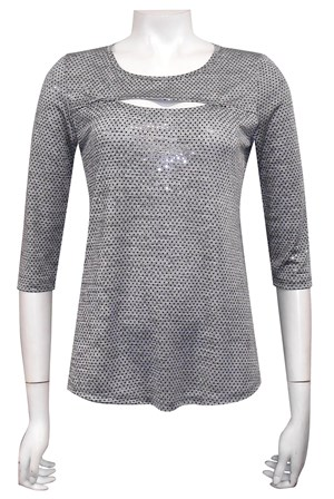 Lacey keyhole sparkle top