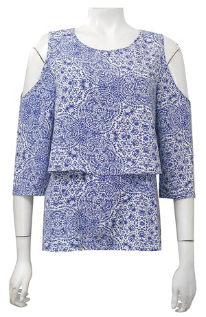 CLICK TO SEE PRINTS COMING SOON - Lexis rayon double layer top