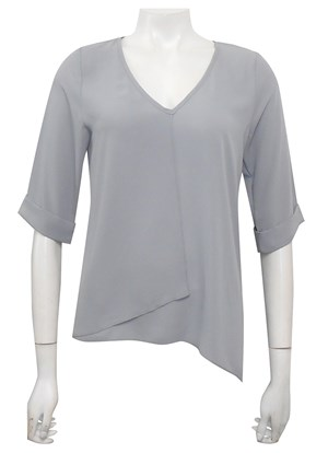 SILVER - Sandy V neck DG top