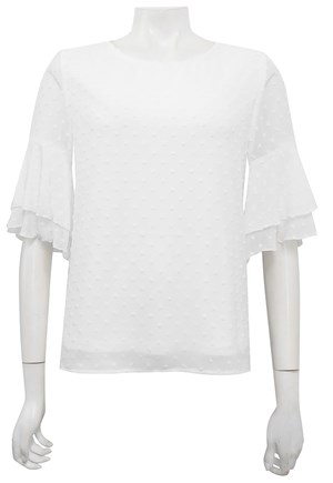 LIMITED STOCK - Julie bubble top with sleeve frills