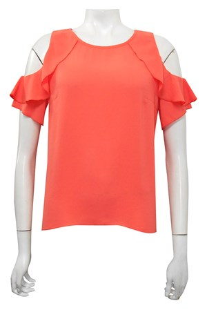 ORANGE - Lucy frill arm top