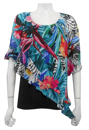LIMITED STOCK - Jill longer length frill overlay top