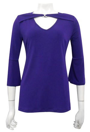 Maggie diamonte top with split sleeves