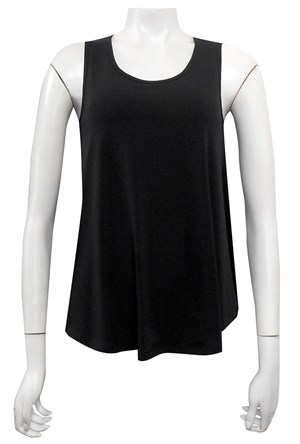 BLACK - Lillian soft knit baby doll singlet