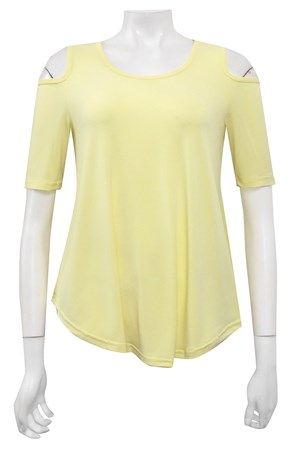 CITRUS - Betty cut out shoulder soft knit top