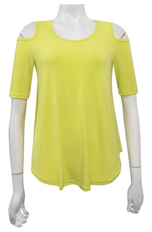 LIME JUICE - Betty cut out shoulder soft knit top