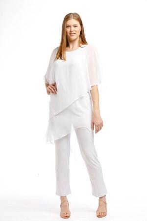 Chiffon Overlay Jumpsuit WHITE