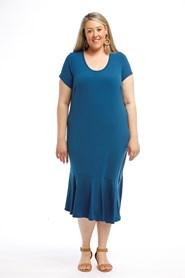 Soft Knit Angle Hem Dress