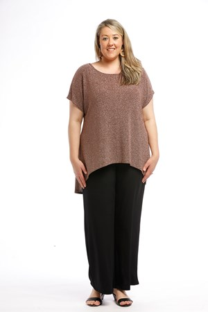 Sparkle Knit Top ROSE GOLD