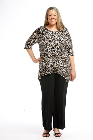 Printed Soft Knit Top ANIMAL