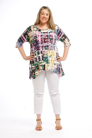 Printed Soft Knit Top PURPLE MULTI