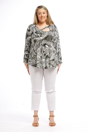 Printed Top KHAKI PRINT