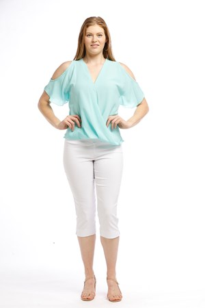MINT - Robyn cross front blouse