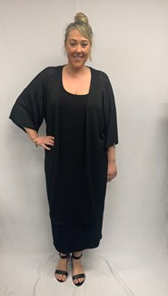 Light Weight Knit Shrug in Black