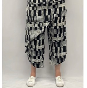 Printed Wrap Pant BLK/WHITE\/SAND