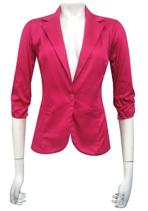 HOT PINK - Spring carnival stretch sateen jacket