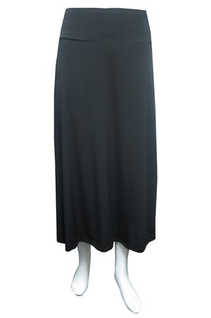 Soft knit skirt with thick waistband