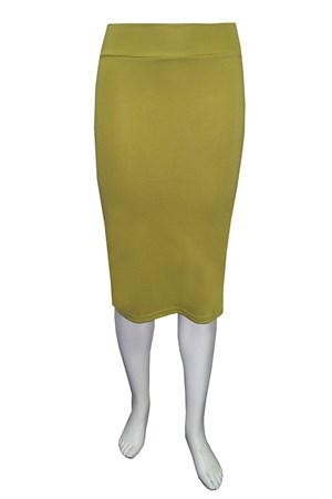 CLICK TO SEE COLOURS AVAILABLE - Ponti knee length skirt.