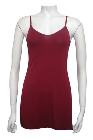 Thin strap soft knit long singlet
