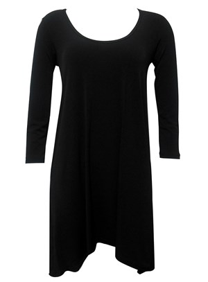 BLACK - Soft knit tunic dress