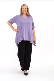 Soft Knit Top with Peaked Sides DUSK
