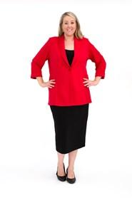 Elizabeth Ponte Jacket RED