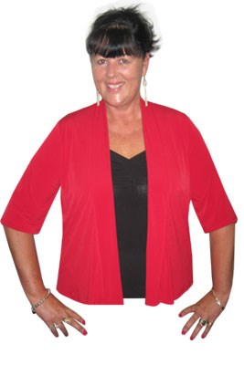 Soft knit shrug with 3/4 sleeves