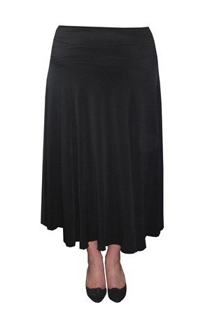 DISCONTINUING - Soft knit gored skirt with ruched waistband