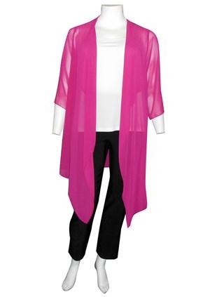 FUSCHIA - Jess chiffon waterfall jacket