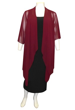 PORT - Jess chiffon waterfall jacket shrug
