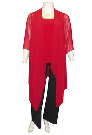 RED - Jess chiffon waterfall jacket shrug