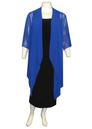 ROYAL - Jess chiffon waterfall jacket shrug