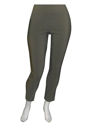 KHAKI - Helen bengaline straight leg pant with side splits